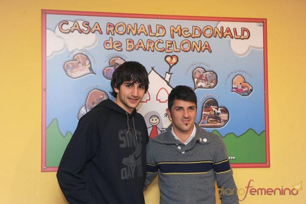 David Villa y Ricky Rubio con los niños que más lo necesitan
