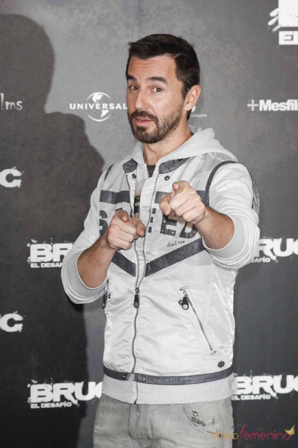 Santi Millán en el etsreno de 'Bruc. El desafío'