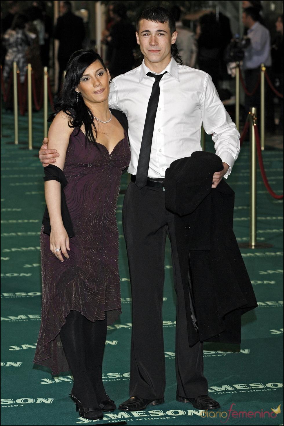 Juan José Ballesta con la madre de su hijo