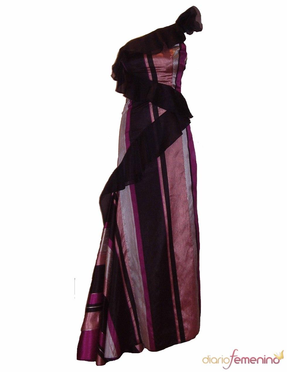 Vestido de corte asimétrico de Santiago García