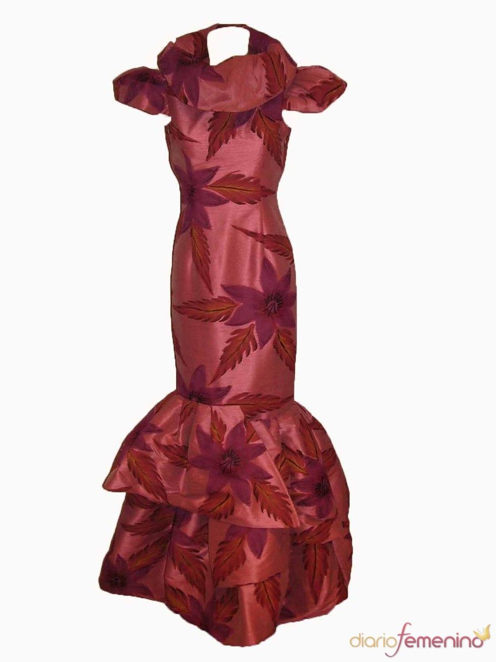 Vestido con volumen para Navidad 2010