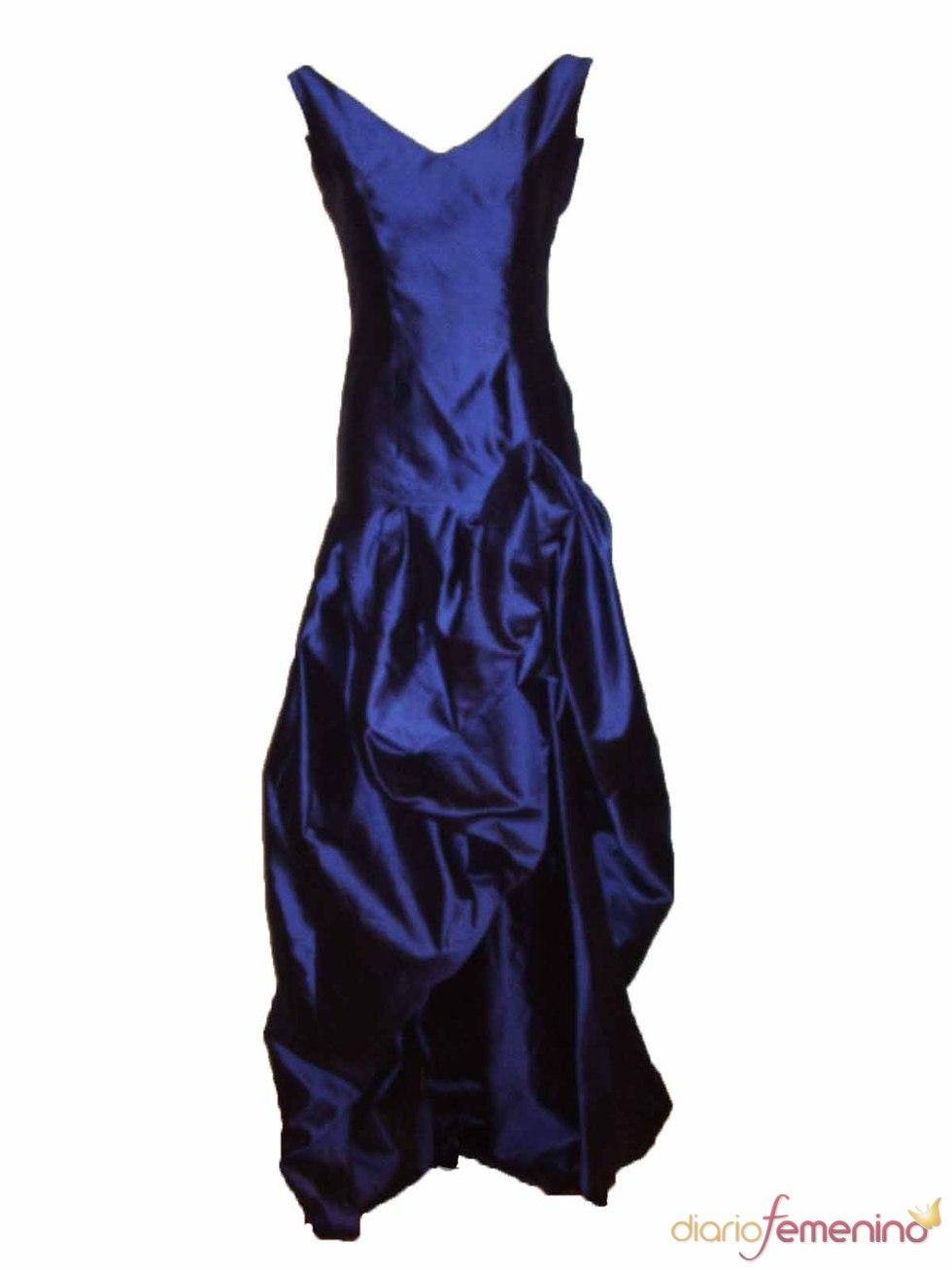 Vestido azul eléctrico de Santiago García