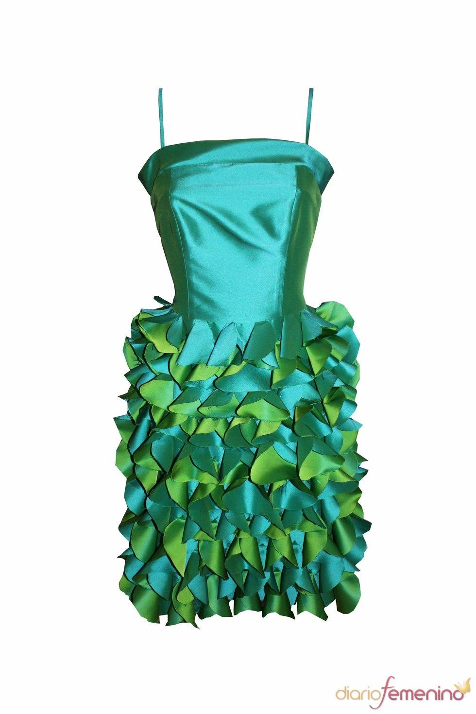 Minivestido verde de Celina Martín