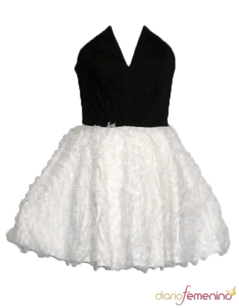 Vestido blanco y negro de Guatequecacahuete