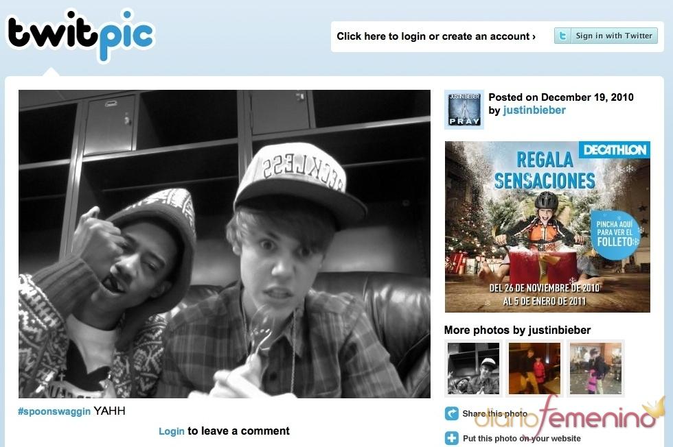 Justin Bieber de cachondeo en Twitter