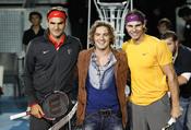 David Bisbal con Roger Federer y Rafa Nadal