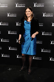 Chabli Iglesias en la cena de gala de la Fundación Rafa Nadal