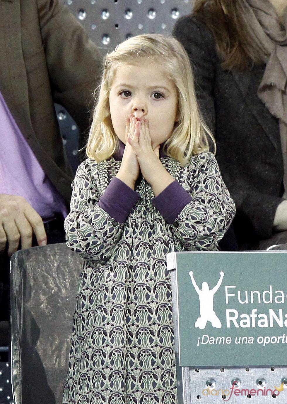 La Infanta Sofía en el partido de la Fundación Rafa Nadal