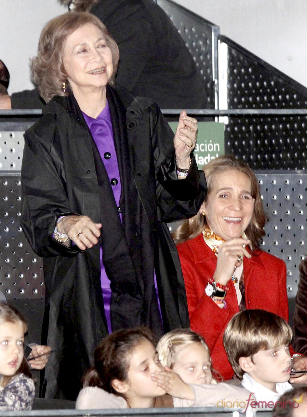 La Reina Sofía durante el partido de la Fundación Rafa Nadal
