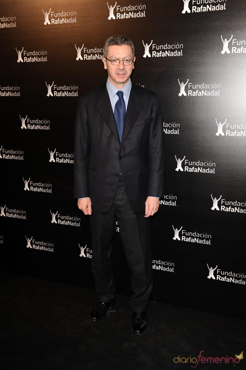 Alberto Ruiz Gallardón en la cena de gala de la Fundación Rafa Nadal