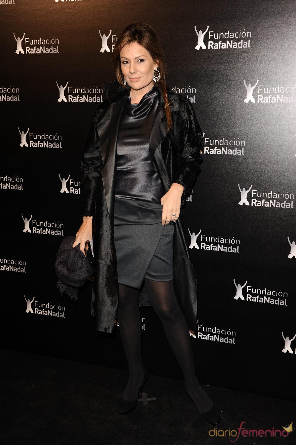 Nuria González en la cena de gala de la Fundación Rafa Nadal