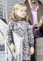 La Infanta Leonor durante el partido de la Fundación Rafa Nadal