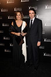 Jose María Aznar y Ana Botella con la Fundación Rafa Nadal