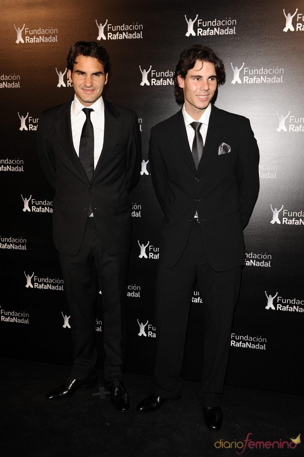 Roger Federer y Rafa Nadal, de cena benéfica