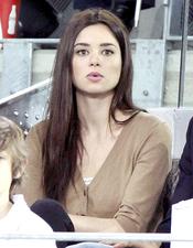 Dafne Fernández en el partido de la Fundación Rafa Nadal