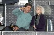 La Duquesa de Alba y Cayetano Martínez de Irujo en el partido de la Fundación Rafa Nadal