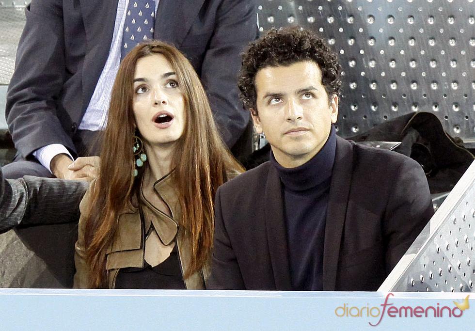 Paz Vega y Orson Salazar en el partido de la Fundación Rafa Nadal