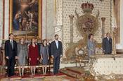 La Familia Real en el homenaje a la madre del Rey
