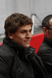 Fernando Llorente en el partido de fútbol benéfico