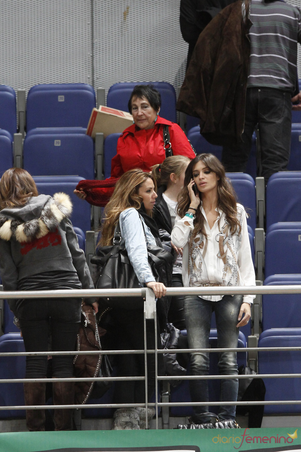 Sara Carbonero en el partido benéfico de fútbol