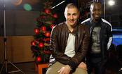 Karim Benzema y Lass Diarra felicitan la Navidad 2010