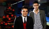 Antonio Adán y David Mateos desean a la afición felices fiestas
