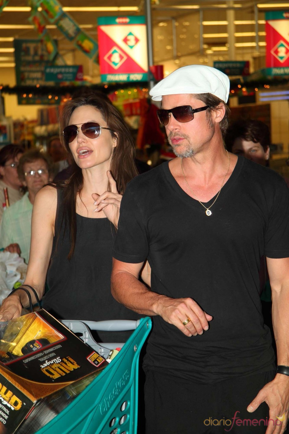 Angelina Jolie y Brad Pitt, Navidad en Namibia
