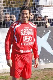 Óscar Higares en el partido contra la Fibrosis Quística