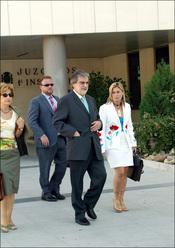 Luis Mariñas en los juzgados