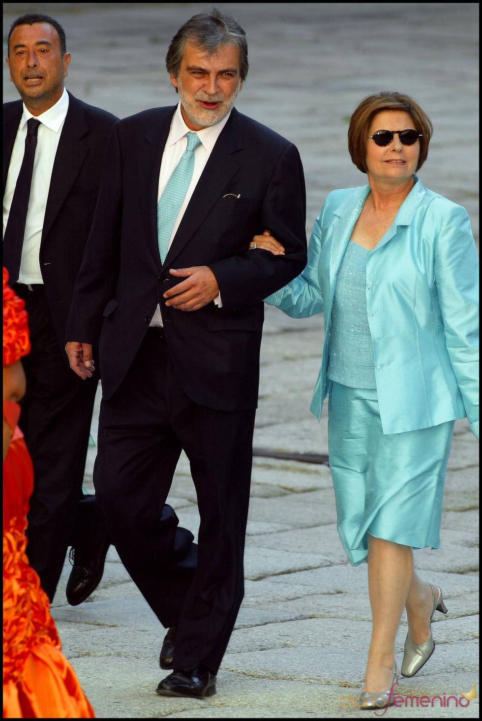 Luis Mariñas en la boda de Ana Aznar
