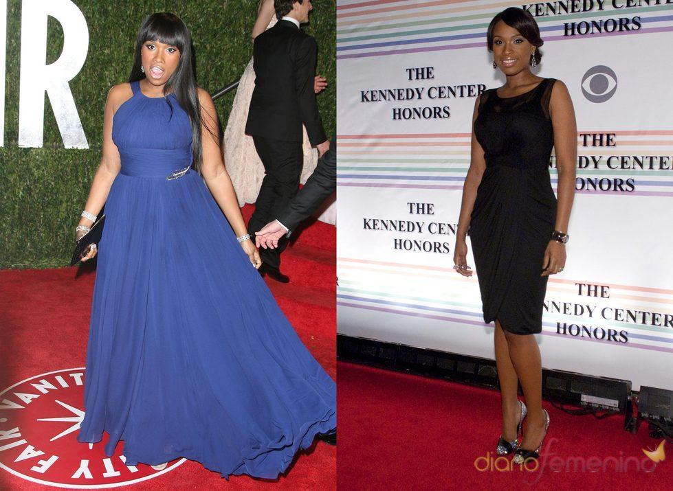 El antes y el después en 2010 de Jennifer Hudson