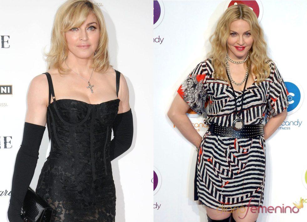 El antes y el después de Madonna en 2010