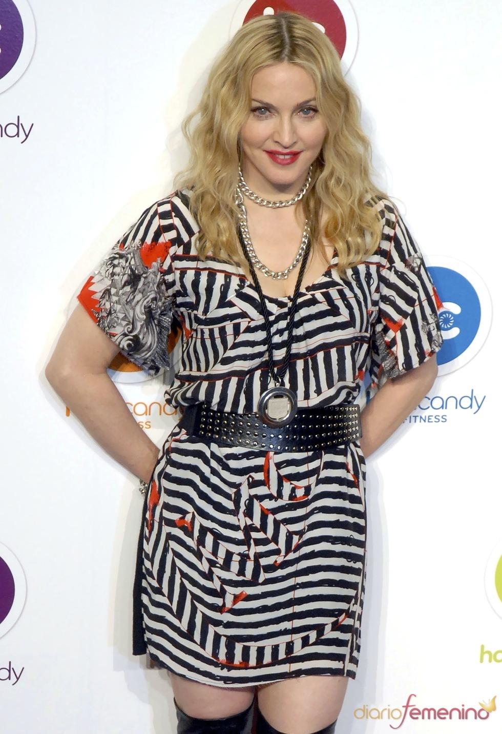 Madonna durante la inauguración de su gimnasio en México