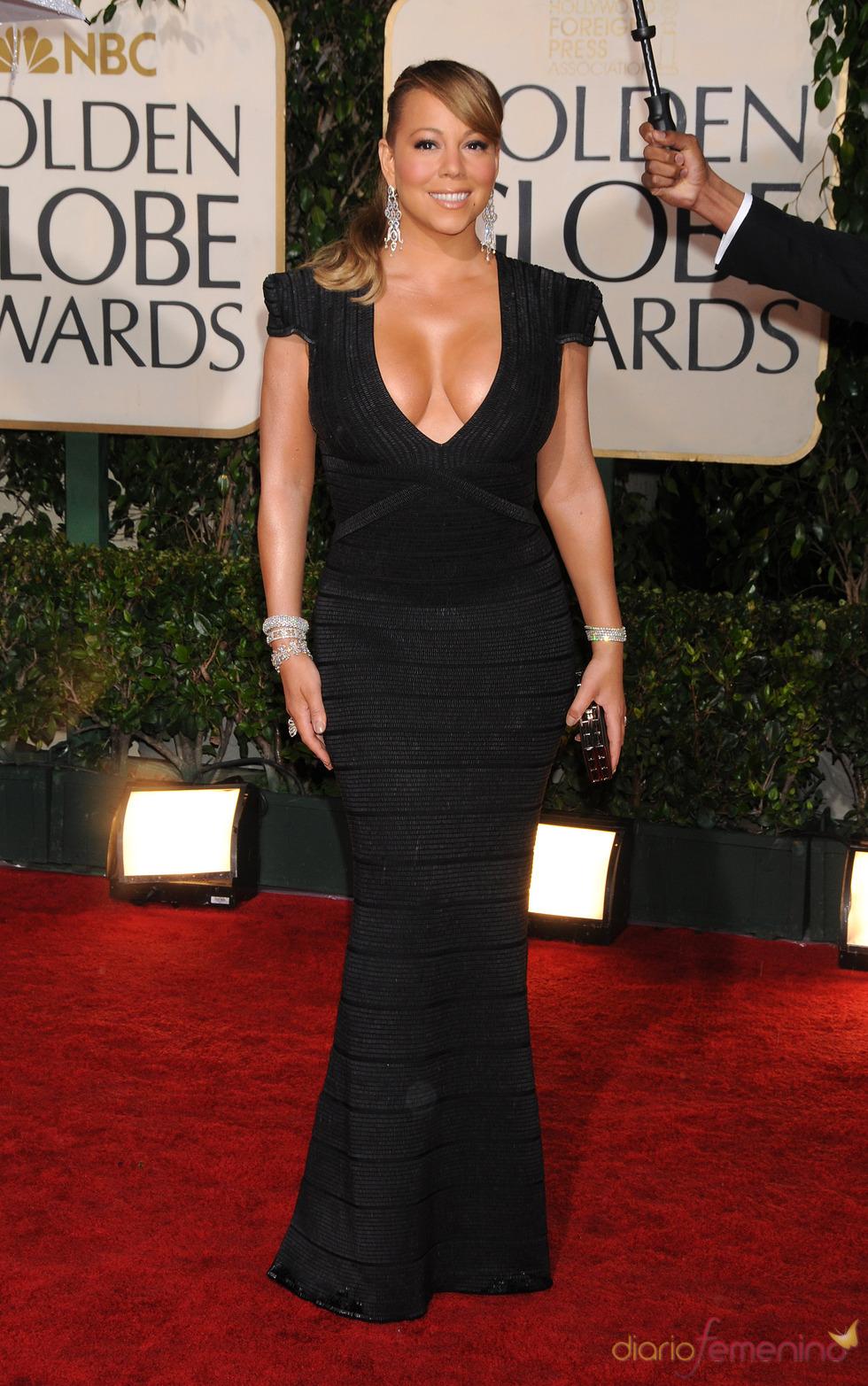 Mariah Carey en los Globos de Oro de 2010