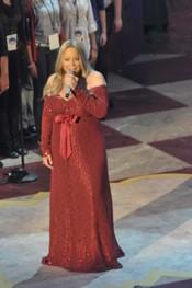 Mariah Carey embarazada y con unos kilos de más