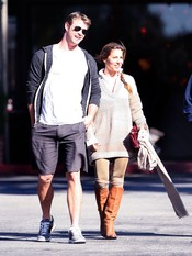 Elsa Pataky y Chris Hemsworth paseando por Beverly Hills