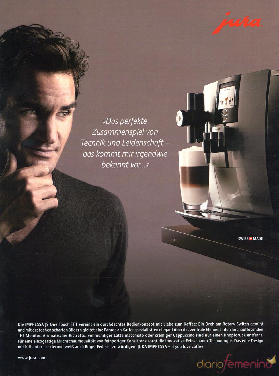 Roger Federer, imagen de Jura coffee