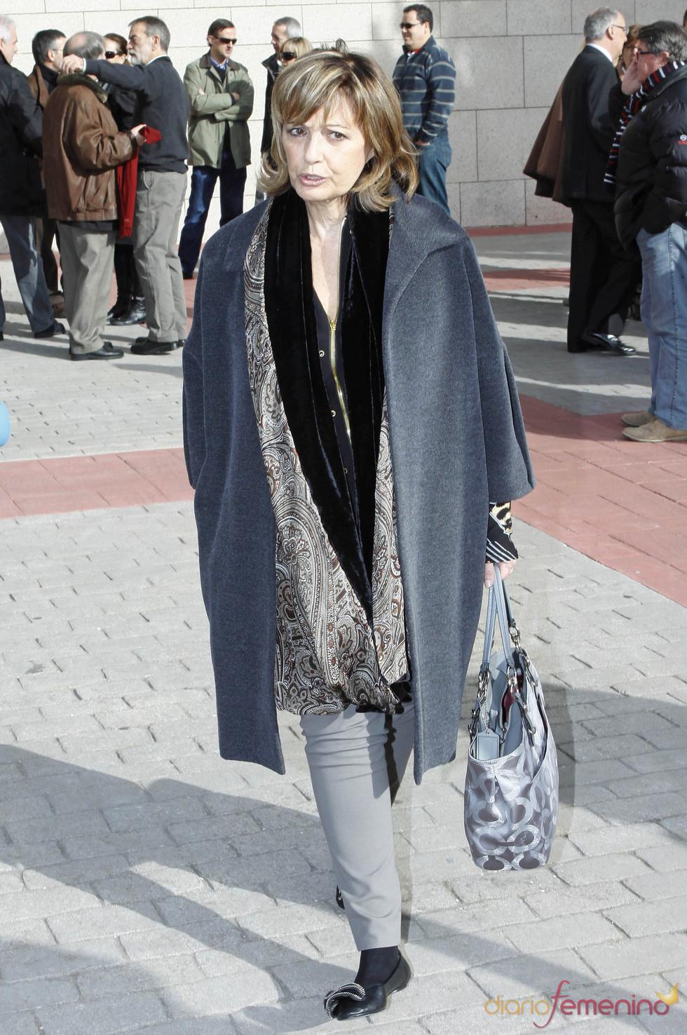 María Teresa Campos en el tanatorio por Luis Mariñas