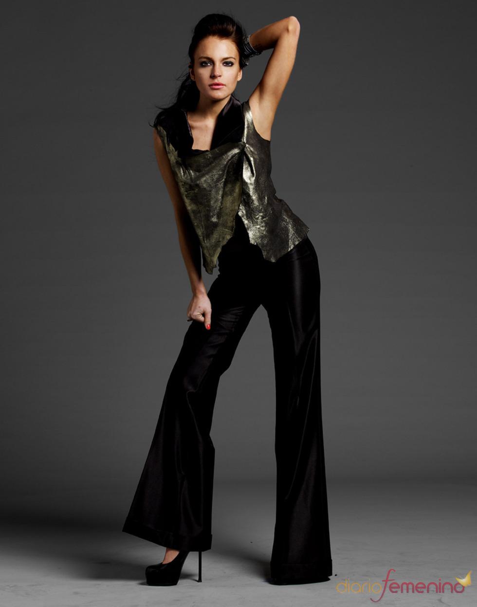 Lindsay Lohan posa para su nueva línea de ropa