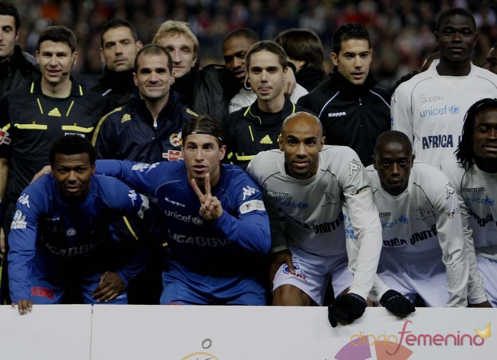 Futbolistas en el partido 'Champions for Africa'