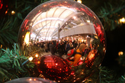 Árbol de Navidad en el aeropuerto de Duesseldorf