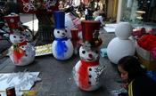 Muñecos de nieve en Hanoi