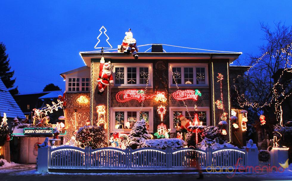 Casa navideña en Hamburgo