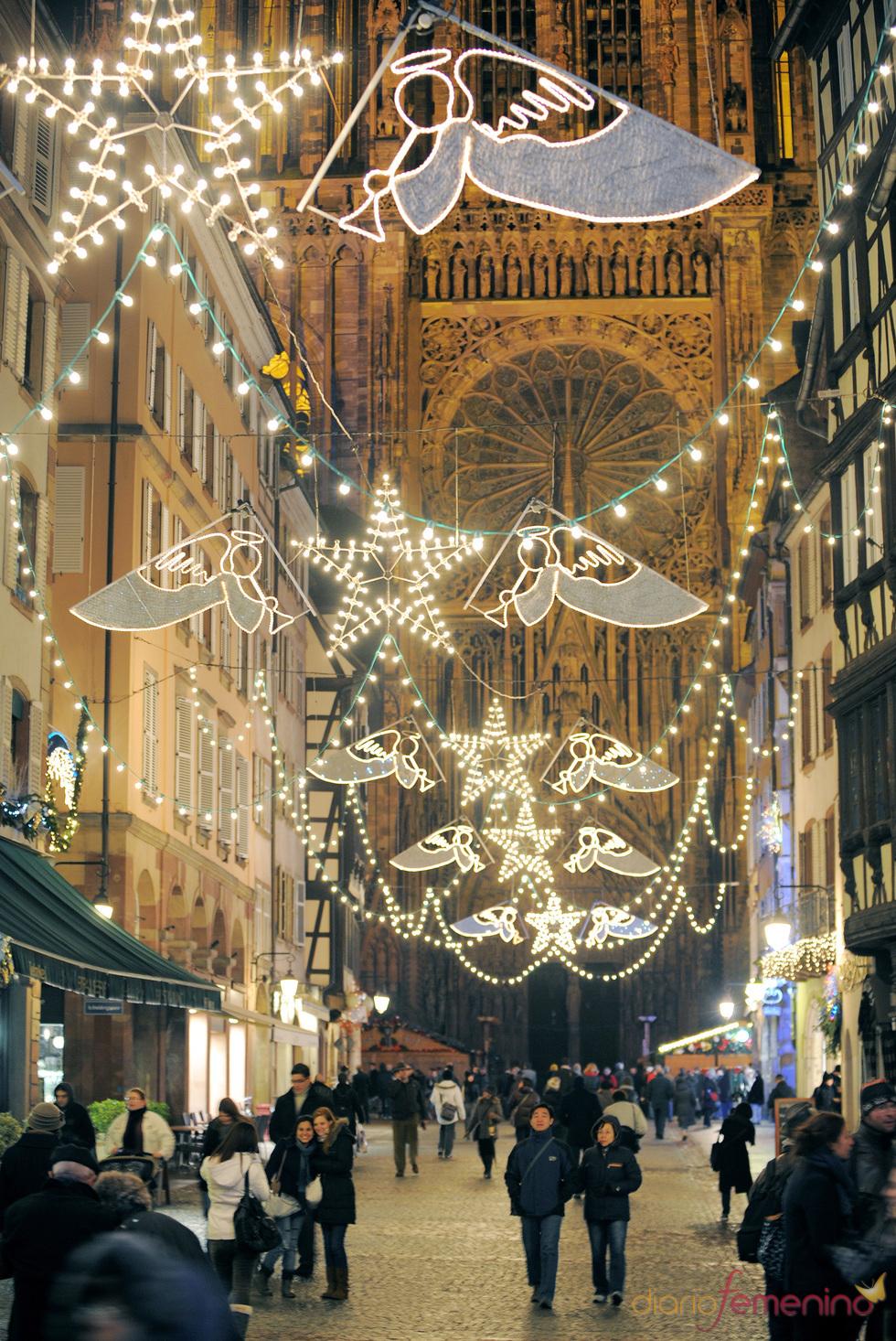 Las calles de Estrasburgo en Navidad