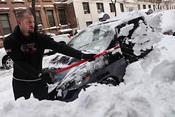 Un fuerte temporal deja Nueva York cubierta de nieve