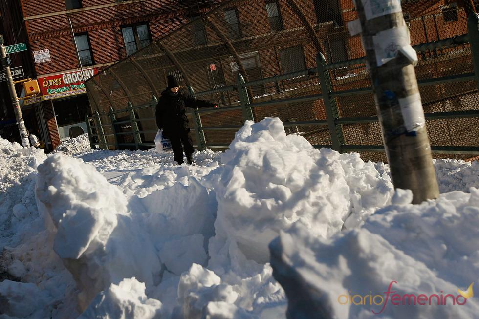 La nieve deja aislada la ciudad de Nueva York