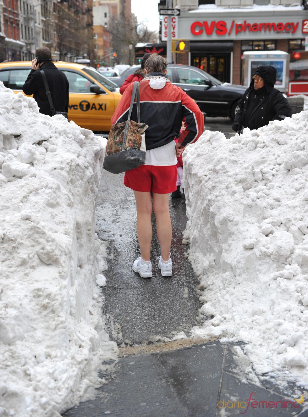 Nueva York se viste de blanco por la fuerte nevada