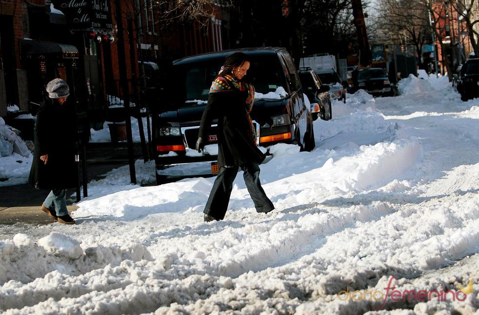 Nueva York en una situación caótica por la nieve