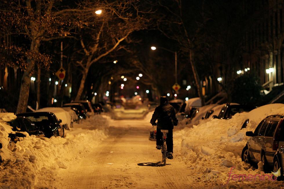 Amanecer blanco en la ciudad de Nueva York