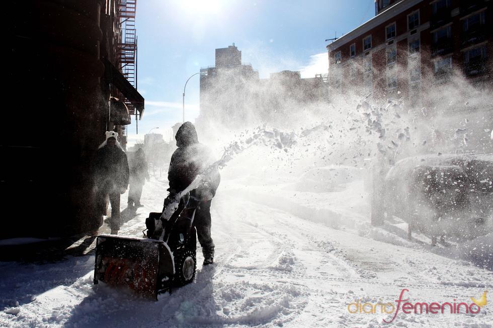 La ciudad de Nueva York cubierta por la nieve